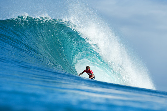 John John Florence (HAW) netted the day's highest two-wave heat total. Image: ASP / Kelly Cestari